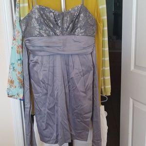 Silver pocket dress
